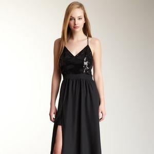[Lavender Brown] Maxi Sequin Bodice Dress